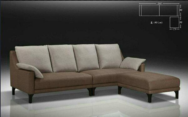 【尚品傢俱】810-02 奧西卡L型貓抓皮沙發~可改色~/客廳沙發/會客沙發/ L-Shaped Sofa