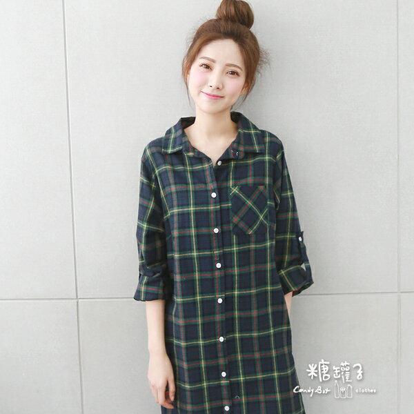 ★原價1100五折550★糖罐子口袋反袖釦襯衫洋裝→預購【E41318】 2