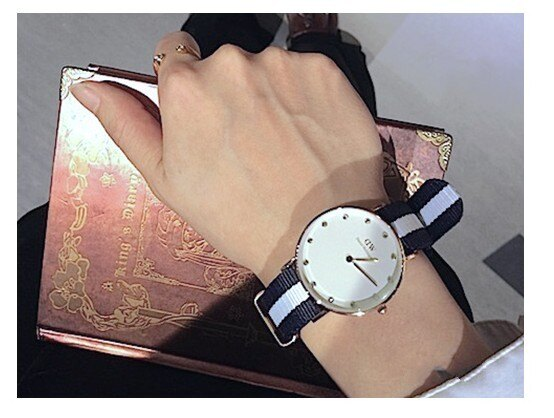 瑞典正品代購 Daniel Wellington 0953DW  玫瑰金 尼龍 帆布錶帶 女錶手錶腕錶 26MM 4