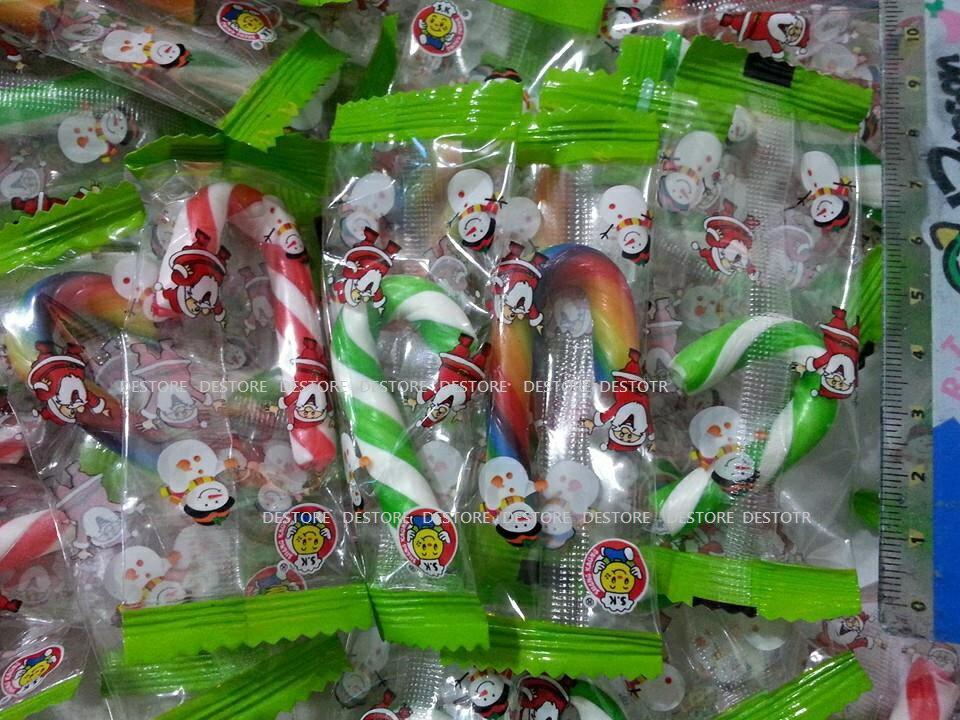 有樂町進口食品  聖誕節限定 彩色拐杖糖 1000G(約180~195隻) 專屬包裝 婚禮小物 同樂會 3