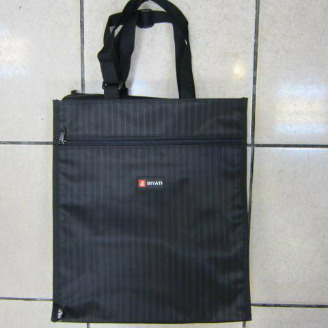 ~雪黛屋~BIYATI 提袋才藝袋手提帶可調整簡單袋上學書包以外放置教具品雨衣傘便當袋台灣製造可放A4資料夾#1350黑