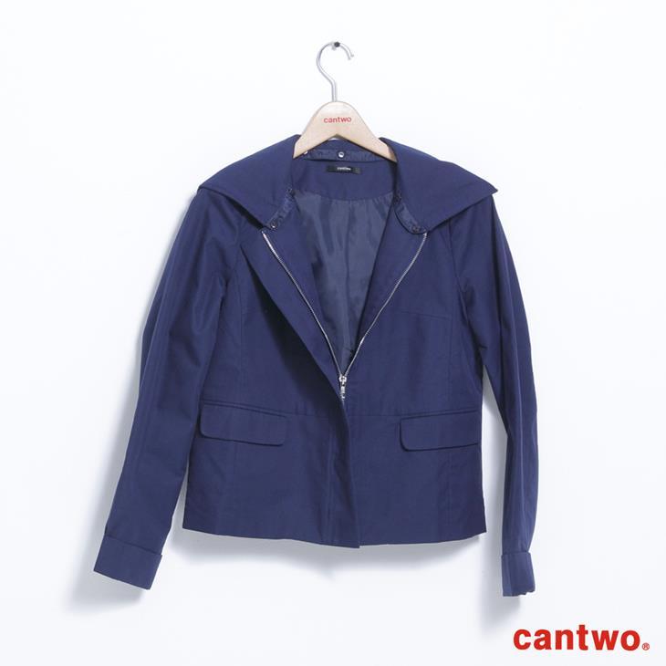 cantwo微光澤連帽短版風衣外套(共三色) 6