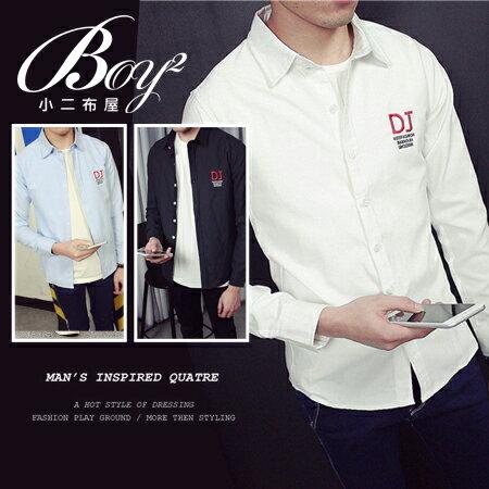 ☆BOY-2☆【NQ97006】韓版電繡DJ長袖襯衫 - 限時優惠好康折扣