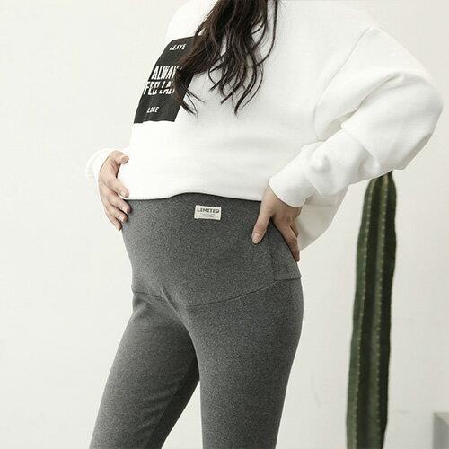 內搭褲 磨毛棉素色壓線彈性內搭長褲【MBY6671】 BOBI  09/29 0