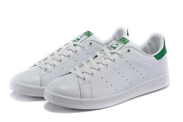 Adidas Originals stan smith 男女情侶鞋 (白綠36-44)
