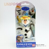 【UNIPRO】日貨 迪士尼正版 冰雪奇緣 FROZEN 雪寶Olaf 公仔 變形 變身 玩具 玩偶 禮物 BANDAI