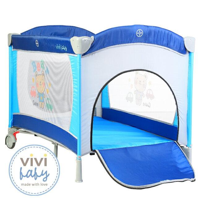 ViViBaby - 托比熊雙層遊戲床 (附蚊帳) 1