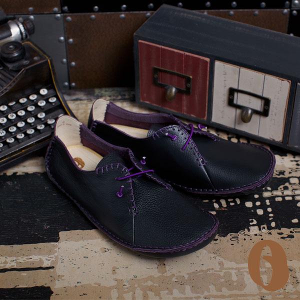 Betel Life 檳榔葉包鞋-mit手工皮鞋撞色真皮手工縫線訂製鞋(經典黑)