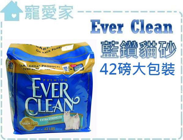☆寵愛家☆Ever Clean藍鑽貓砂42磅大包裝-藍標