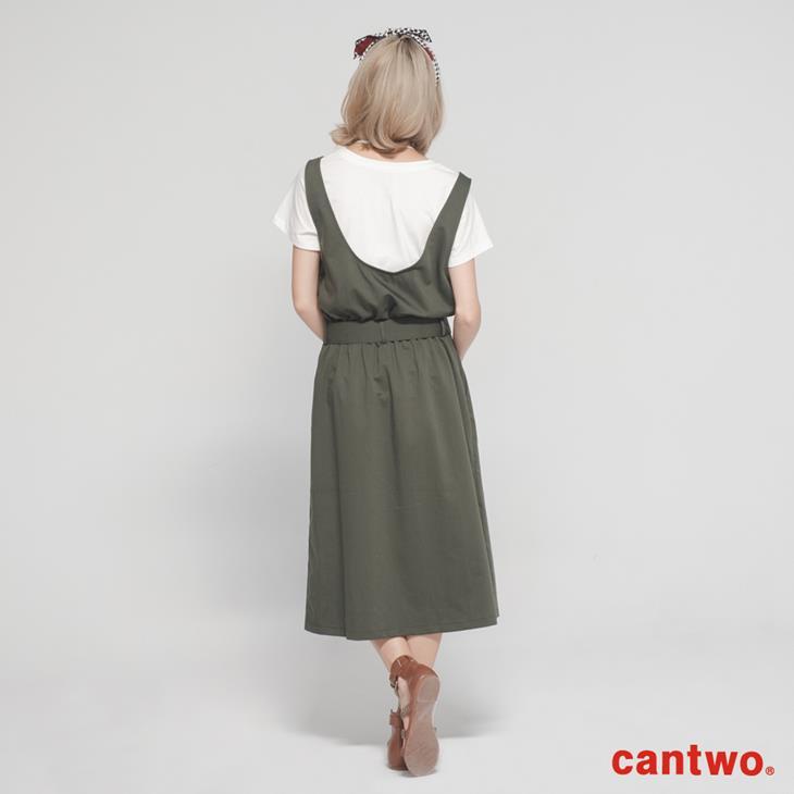 cantwo挖背連身裙+短T兩件式組合(共三色) 3