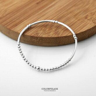 銀管圓型珠鍊925純銀手鍊 個性與甜美混搭手環 創意與質感兼具 柒彩年代【NPA349】氣質女孩 0