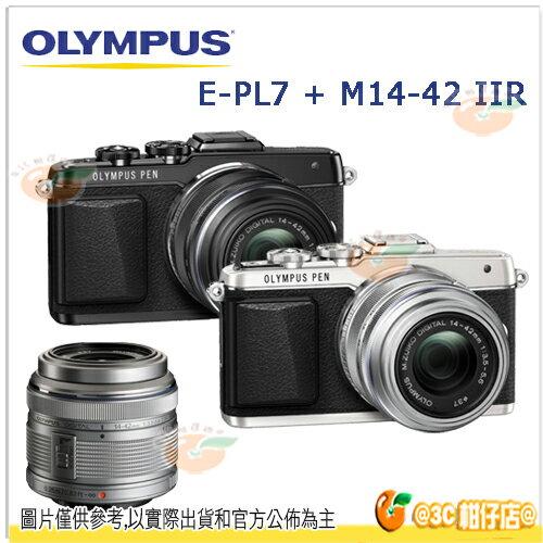 送清潔刷 清潔液 拭鏡布 保護貼等好禮 OLYMPUS E~PL7 14~42mm IIR