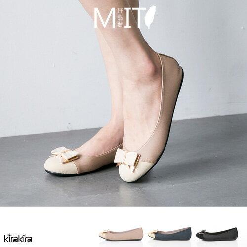 娃娃鞋 SALE 童話般的燦爛朵結拼接平底娃娃鞋MIT