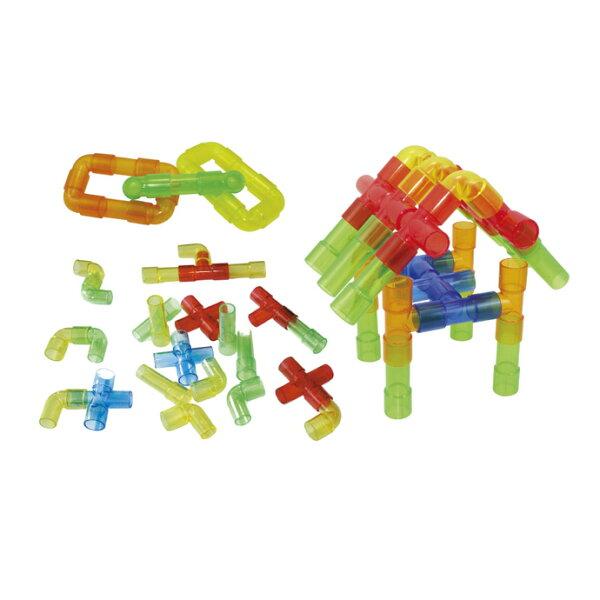 【華森葳兒童教玩具】建構積木系列-透明水管 E10-B60 (華森葳系列消費1500元加贈赫利手動炫光風扇)