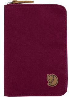 Fjallraven 瑞典北極狐 護照包/旅遊/皮夾/錢包/收納包 Passport Wallet 旅遊護照包/復古拉鍊皮夾 24220-420 紫紅/台北山水