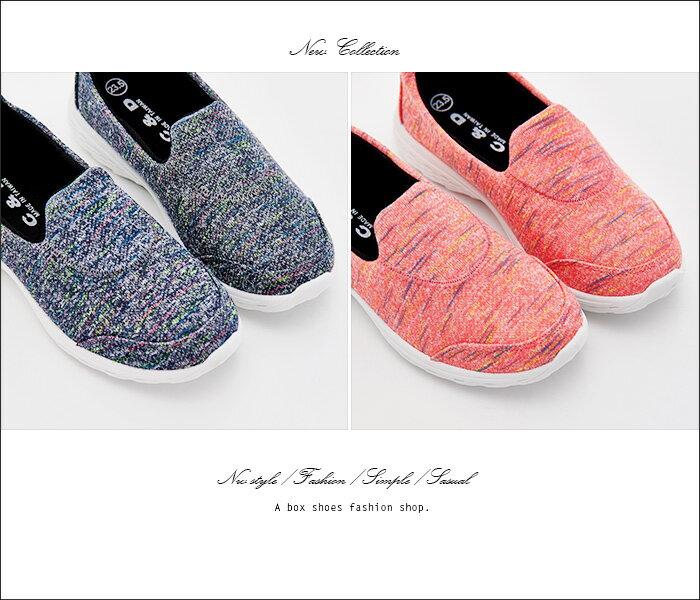 格子舖*【KBA-35】MIT台灣製 透氣柔軟針織布面 懶人鞋 輕量鞋 健走鞋 慢跑鞋 2色 2