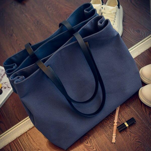 手提包-帆布子母包肩背包-共4色- 9001- J II