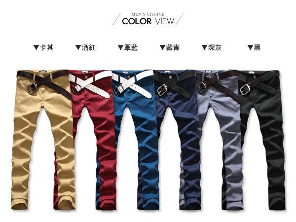 ☆BOY-2☆【ND3728】加大尺碼韓版修身彈性休閒長褲 1