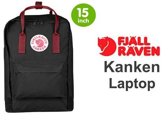 瑞典 FJALLRAVEN KANKEN laptop 15inch 550-326黑/公牛紅 小狐狸包