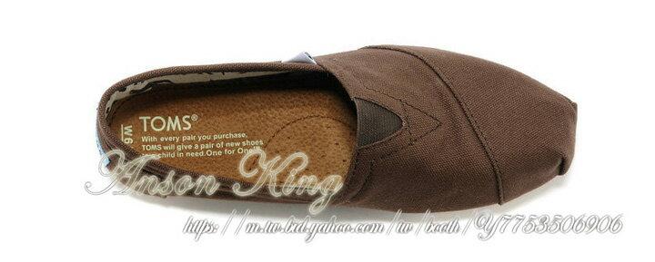 [女款] 國外代購TOMS 帆布鞋/懶人鞋/休閒鞋/至尊鞋 帆布系列  咖啡 3