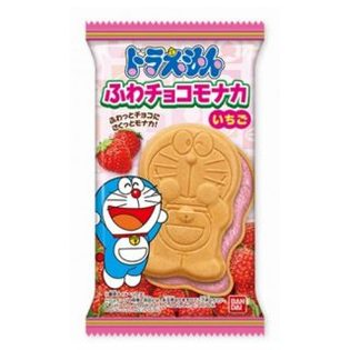 BANDAI 哆啦A夢最中餅-草莓 16.5g