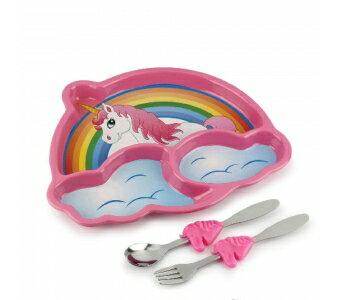 美國【KIDSFUNWARES】造型兒童餐盤組-彩虹小馬 0