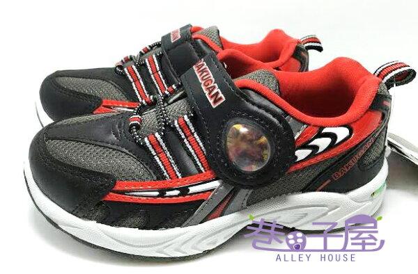 【巷子屋】爆丸3 男童搭色運動休閒鞋 [34209] 銀黑紅 MIT台灣製造 超值價$198