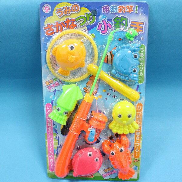 日系釣魚組 戲水童玩釣魚樂 ST-201 小釣手(7件裝)/一卡入{促150}~生