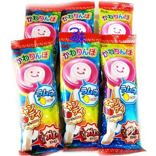 (日本) LOTTE 樂天 不可思議 歡樂 棒棒糖 口香糖 (棒棒糖+口香糖)  (樂天口香糖棒棒糖)1盒 400 公克 (20入) 特價 490 元 【4903333155842】(平均 1支 24.5 元)