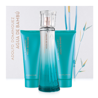 Agua de Bambú eau de toilette 100 ml + Gel 100 ml + Body Lotion 100 ml - Adolfo Domínguez 0