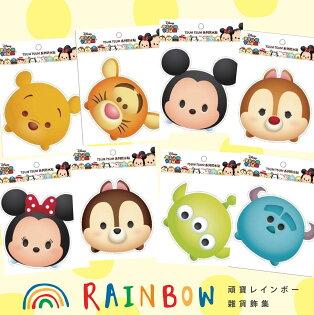 頑寶Rainbow * 迪士尼TSUM防水貼紙  米奇米妮奇奇蒂蒂毛怪雪寶