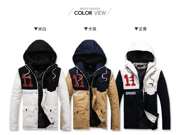 ☆BOY-2☆【OE50102】保暖11印花軍裝連帽外套 1