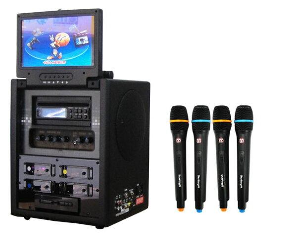 【順風99行動卡拉OK伴唱機 SF-354】+ DVD播放器 + USB插槽 100W (全配豪華型) 順風九九 SF354【舊換新實施中】