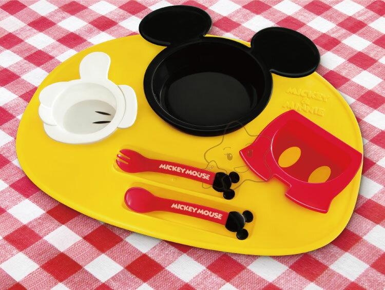 【大成婦嬰】日本超人氣 Disney 米奇、米妮多功能餐盤組 (基本款)1組 0