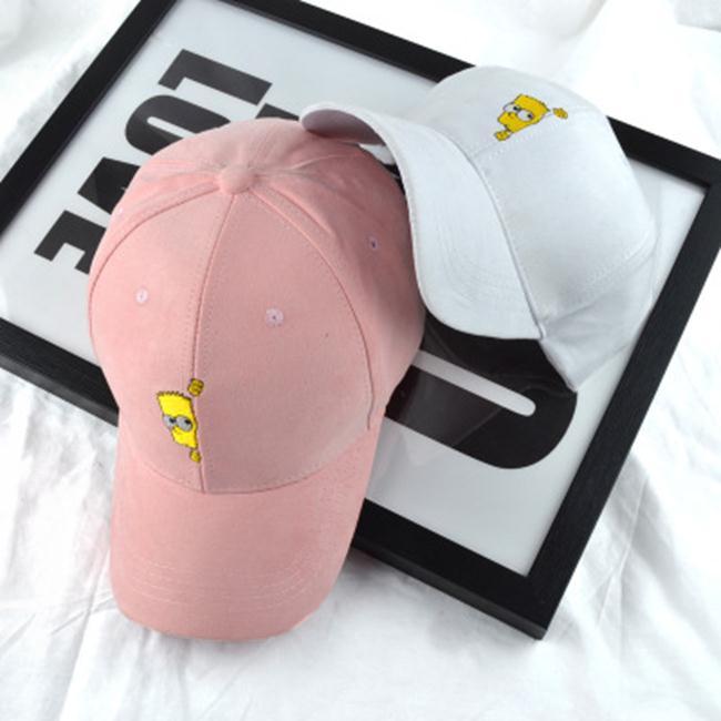 50^%OFF~E018624H~韓國ulzzang卡通辛普森可愛彎簷帽鴨舌帽棒球帽子男女