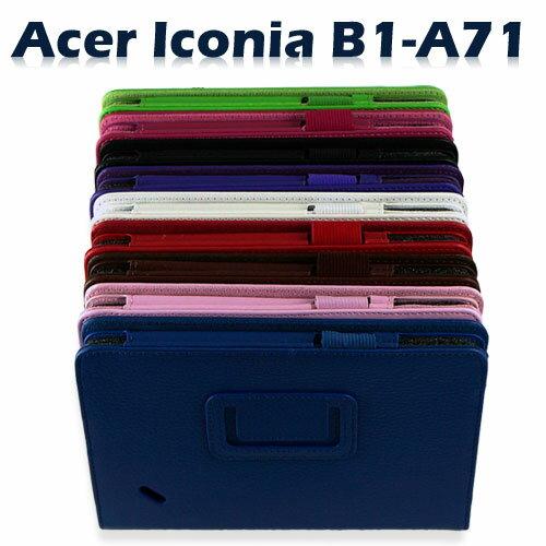 【斜立、側掀】宏碁 Acer ICONIA Tab B1-A71 7吋平板荔枝紋保護皮套/書本式翻頁皮套/保護套~出清特惠