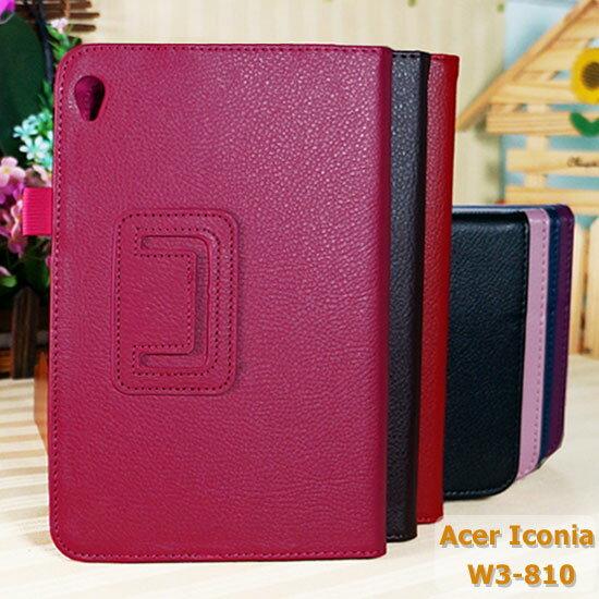 【筆束、斜立】宏碁 Acer Iconia W3-810 平板 荔枝紋皮套/筆記本式保護套/書本式翻頁/立架展示/帶筆插~出清特惠
