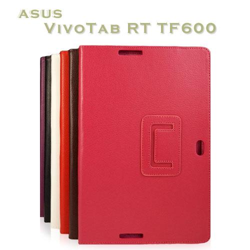 【翻頁、可斜立】ASUS Vivo Tab TF600T TF600 TF502 荔枝紋筆記本保護皮套/書本式翻頁皮套/保護套
