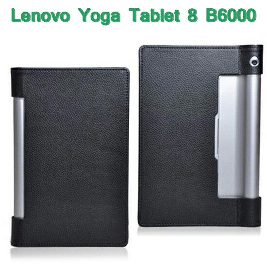 ~斜立~聯想 Lenovo Yoga Tablet 8 B6000 平板 荔枝紋皮套 書本