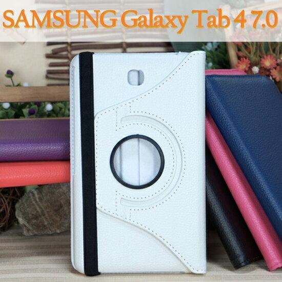 【旋轉、斜立】三星 SAMSUNG Galaxy Tab 4 7.0 T235/T230 平板專用 荔枝紋皮套/書本式保護套/側掀支架展示 M11248477