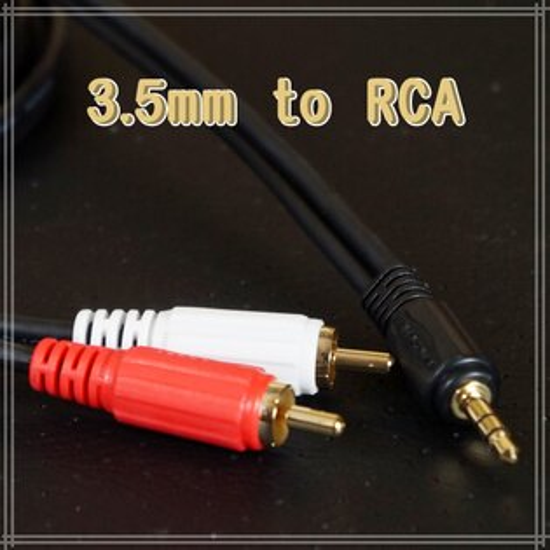 【3M】3.5mm對RCA音源線 雙公頭音頻線/喇叭/手機/桌機/筆電/音箱/音響 公對公
