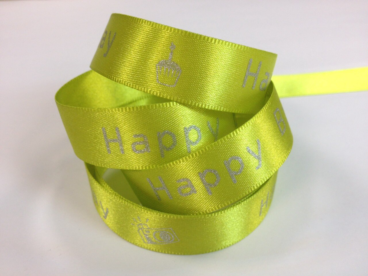 雙面緞生日快樂-相機15mm3碼裝(10色) 3