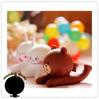 『無名』 LINE 公仔 饅頭人 兔兔 熊大 手機支架 吸盤 造型支架 iPhone5 5S Note3 Zenfone 5 6 Z2 H01110