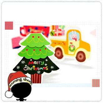 『無名』 一入 2016 新款 手繪 聖誕卡片 耶誕卡片 賀卡 新年 聖誕老人 聖誕樹 麋鹿 聖誕襪 J12107