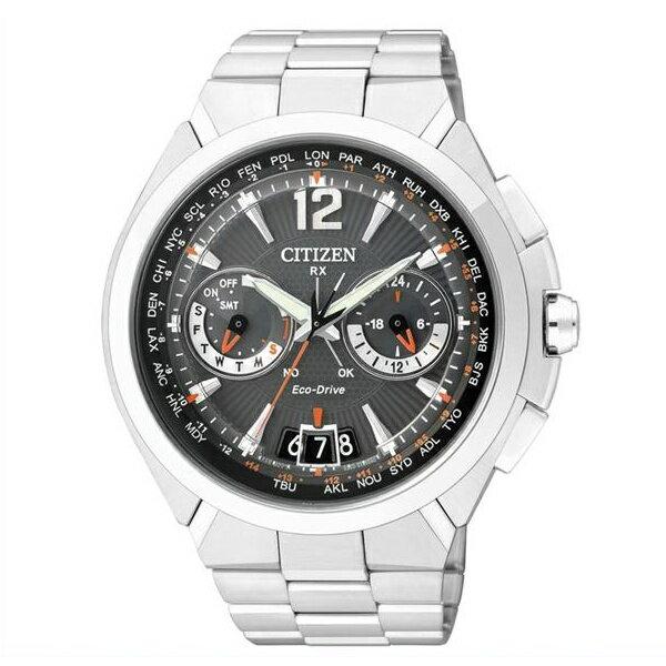 CITIZEN星辰CC1091-50E旗艦衛星對時光動能腕錶/黑面46mm