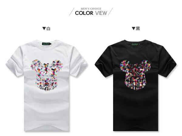 ☆BOY-2☆【JJ744】情侶彩色燙金熊短袖上衣 1