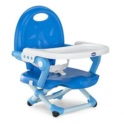 【悅兒樂婦幼用品舘】Chicco Pocket Snake攜帶式輕巧餐椅座墊(鯨魚藍)