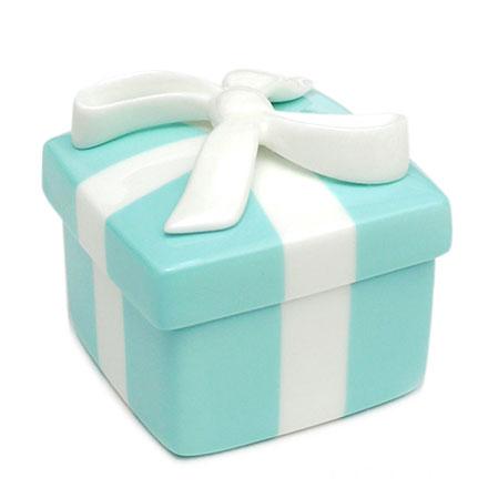 預購。裕子的店。優雅瓷器生活。立體白色蝴蝶絲帶TIFFANY綠陶瓷飾品盒 - 1入【jp1220-296】