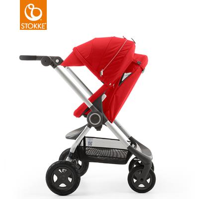 【本月贈市價$1050杯架】【贈Borny安全帶護套(花色隨機)】Stokke Scoot 2代嬰兒手推車(紅色) 1