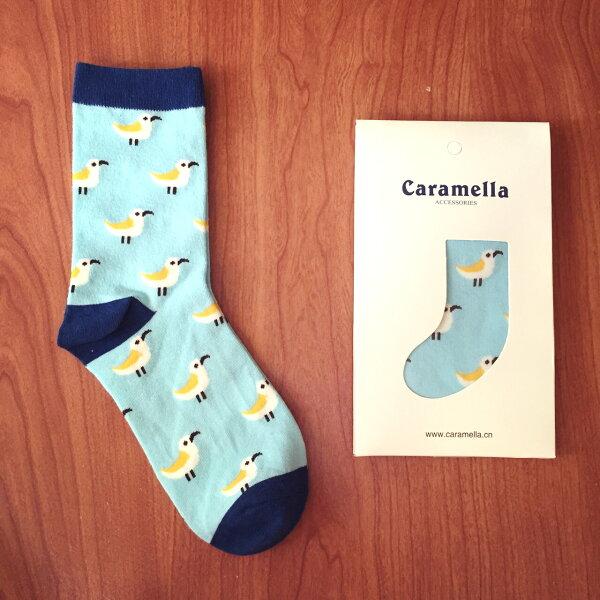【開幕促銷】Caramella 小鳥 中筒襪 短襪 船襪 隱形襪 五指襪 文青情侶 運動穿搭 阿華有事嗎 C0011
